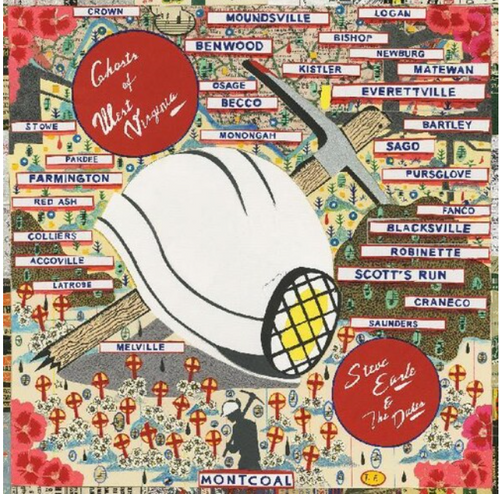 Steve Earle & The Dukes – Ghosts Of West Virginia    (Vinyl, LP, Album, Limited Edition, Mono, Blue & Gold West Virginia)