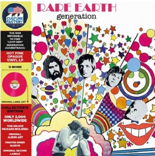 Rare Earth – Generation.   (Vinyl, LP, Album, Soundtrack, Pink coloured vinyl)