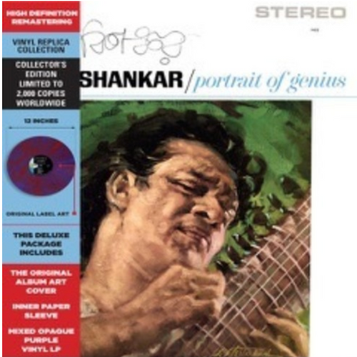Ravi Shankar ‎– Portrait Of Genius.   (Vinyl, LP, Album, Limited Edition, Reissue, Remastered, Stereo, Purple Mixed)