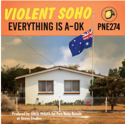 Violent Soho ‎– Everything is A-OK.    (Vinyl, LP, Album, Repress, Clear / Blue / Red Splatter)
