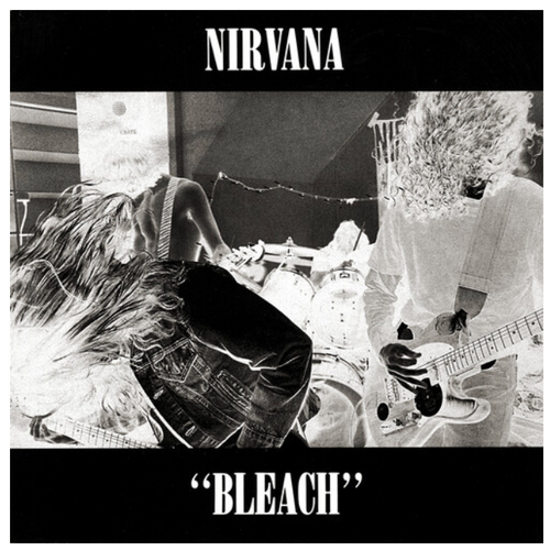 Nirvana ‎– Bleach.   (Vinyl, LP, Album, Reissue, Limited Edition, Black, White, Silver)