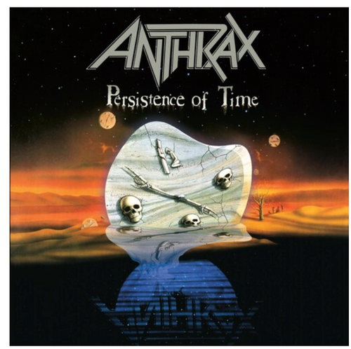 Anthrax ‎– Persistence Of Time.   (4 × Vinyl, LP, Album, Orange/Black Swirl, Gatefold)