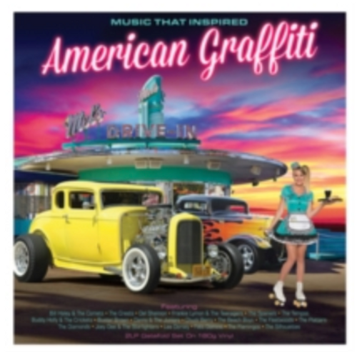 "Various ‎– Music That Inspired American Graffiti.   (2 × Vinyl, 12"", Compilation)"