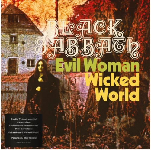 "RSD 2020. Black Sabbath ‎– Evil Woman / Wicked World / Paranoid / The Wizard.    (2 × Vinyl, 7"", Limited Edition, Picture Disc, Remastered). AVAILABLE IN STORE ONLY 26-9-20"