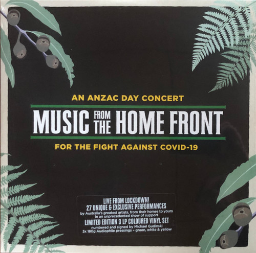 Various ‎– Music From The Home Front.    (3 × Vinyl, LP. Green, White, Yellow)
