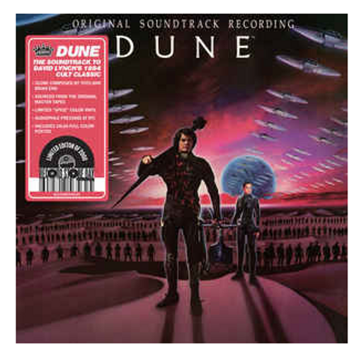 RSD 2020.  Dune - (Original Soundtrack Recording).   Vinyl, LP, Album, Reissue, Spice Colored)  AVAILABLE IN STORE ONLY 26-9-20