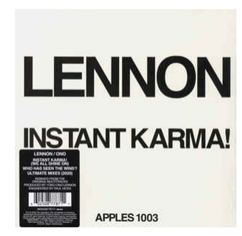 "RSD2020. Lennon ‎– Instant Karma!    (Vinyl, 7"", 45 RPM, Single). AVAILABLE IN STORE ONLY 26-9-20"