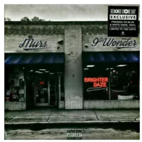 Murs & 9th Wonder – Brighter Daze.    (Vinyl, LP, Album, Limited Edition, Reissue, Blue & White Swirl). AVAILABLE IN STORE ONLY 24-10-20