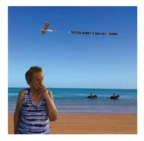 Peter Bibby's Dog Act* ‎– Marge.   ( Vinyl, LP, Album,Blue)