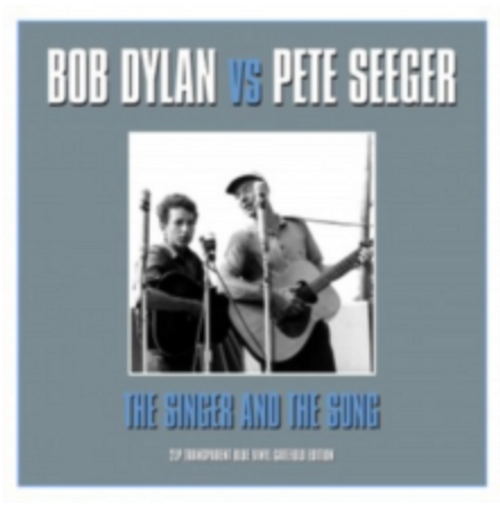 Bob Dylan Vs Pete Seeger – The Singer And The Song.   (2 × Vinyl, LP, Compilation, Blue)