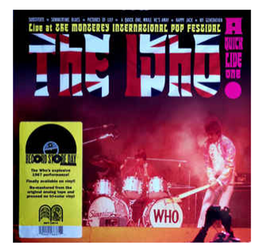 RSD 2020. The Who – A Quick Live One.   (Vinyl, LP, Tri-color Vinyl). AVAILABLE IN STORE ONLY 24-10-20
