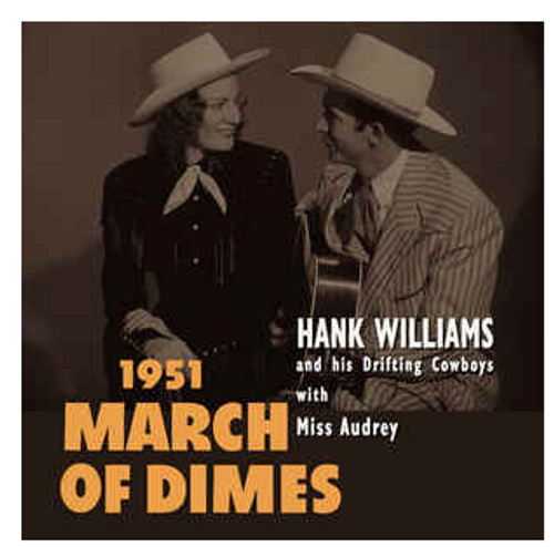 """RSD 2020 Hank Williams And His Drifting Cowboys With Miss Audrey – 1951 March Of Dimes.   (Vinyl, 10"""", 45 RPM, EP, Limited Edition, Red)"""