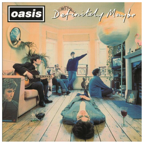 Oasis  ‎– Definitely Maybe.   (2 × Vinyl, LP, Album, Limited Edition, Silver)