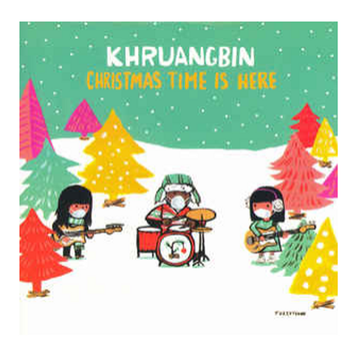 "Khruangbin ‎– Christmas Time Is Here     (Vinyl, 7"", 45 RPM, Single, Limited Edition, Red translucent)"