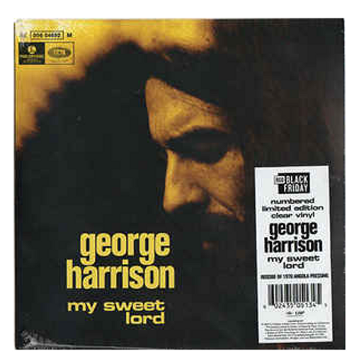 "George Harrison ‎– My Sweet Lord.   (Vinyl, 7"", Single, Numbered,  Clear)"