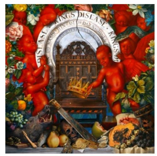 Nas – King's Disease.    (2 × Vinyl, LP, Album, Limited Edition, Red)