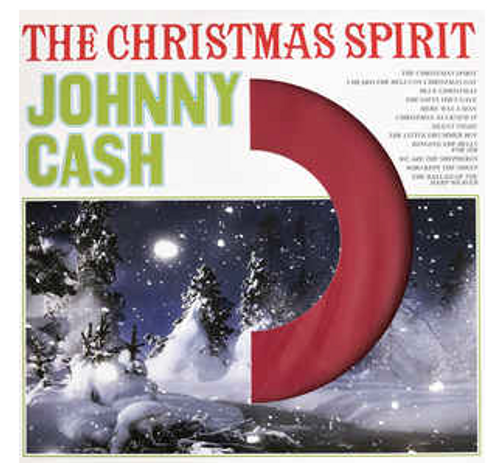 Johnny Cash ‎– The Christmas Spirit.   (Vinyl, LP, Album, Reissue, Red)