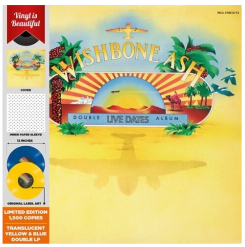 Wishbone Ash ‎– Live Dates Volume Two.    (2 × Vinyl, LP, Album, Translucent Yellow & Blue)