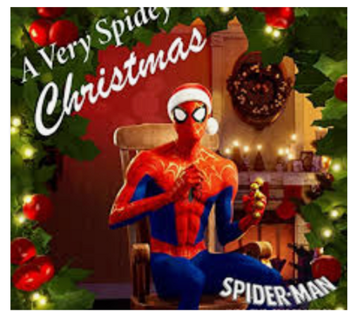 "Various -  A Very Spidey Christmas     (Vinyl, 10"", 45 RPM, Single Sided, Numbered, Picture Disc, White)"