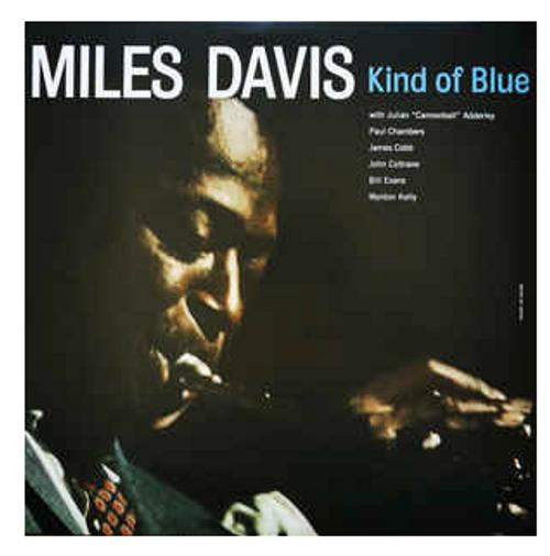 Miles Davis – Kind Of Blue   (Vinyl, LP, Album, Blue translucent)