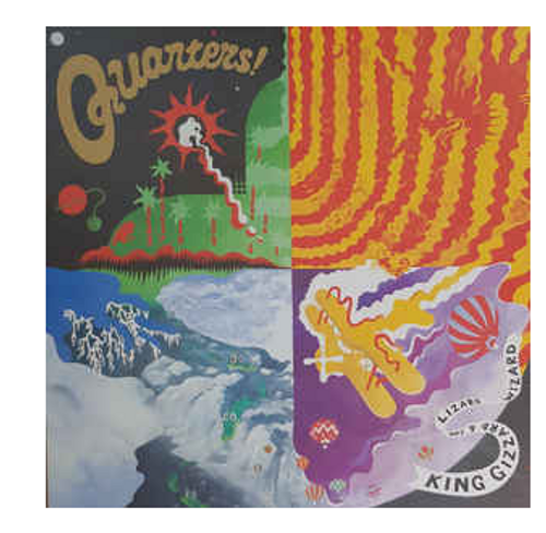 King Gizzard & The Lizard Wizard ‎– Quarters!    (Vinyl, LP, Album, Limited Edition, Reissue, Purple With Splatter [Rancid Rainwater], Eco-Wax)