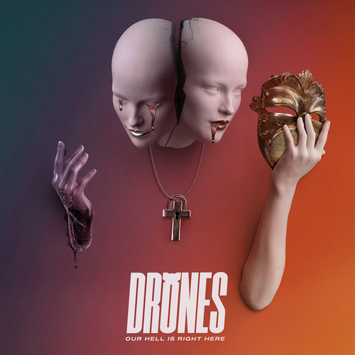 Drones - Our Hell Is Right Here ( Vinyl, LP, Album, Agent Orange and Mellow Yellow Swirl Galaxy)