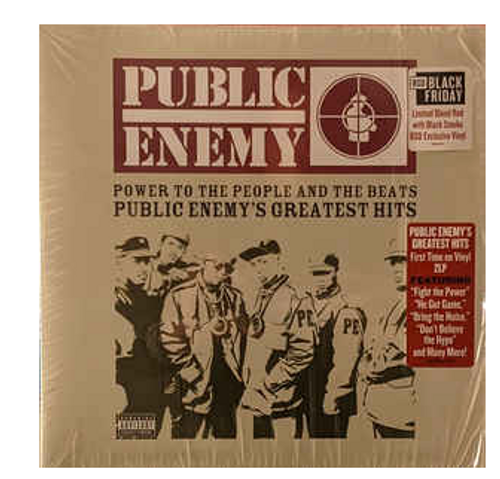 Public Enemy ‎– Power To The People And The Beats - Public Enemy's Greatest Hits.   (2 × Vinyl, LP, Compilation, Limited Edition, Blood Red w/ Black Smoke)