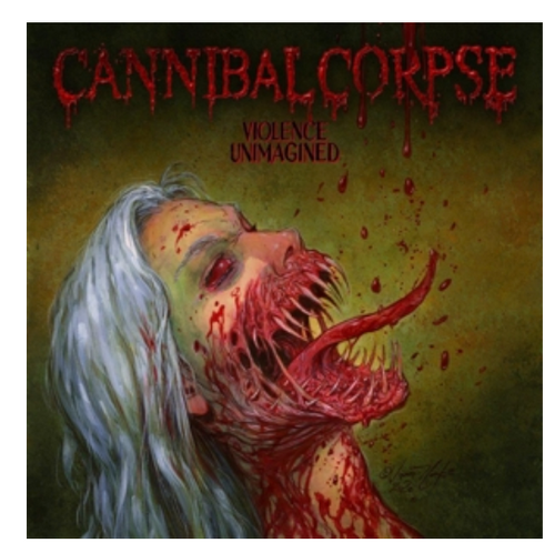Cannibal Corpse – Violence Unimagined.   (Vinyl, LP, Album, Limited Edition, Numbered, Olive Green Marbled)