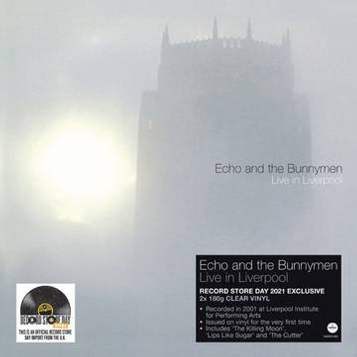 RSD2021 Echo and the Bunnymen - Live in Liverpool (2 x Vinyl, LP, Album, Limited Edition, Clear, 180g)