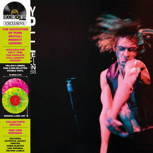 RSD 2021 Iggy Pop - Live at the Channel Boston (2 x Vinyl, LP, Album, Limited Edition, Yellow Green/Pink Red Splatter)