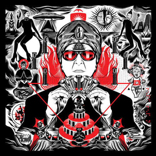 RSD2021 Devo's Gerald V. Casale - AKA Jihad Jerry & The Evildoers (Vinyl, LP, Album, Limited Edition, Clear with Red/White/Black Swirl)