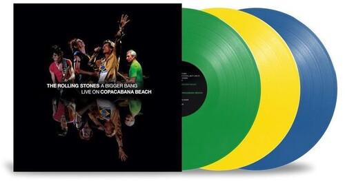 The Rolling Stones - A Bigger Bang: Live On Copacabana Beach (3 x Vinyl, LP, Album, Limited Edition, Green/Yellow/Blue, 180g)