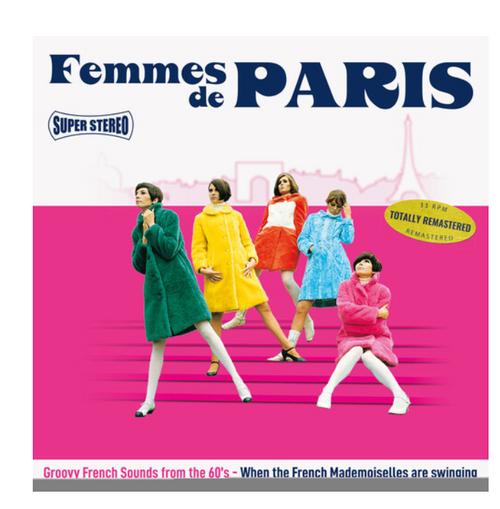 Various – Femmes De Paris.   (Vinyl, LP, Compilation, Pink Transparent)