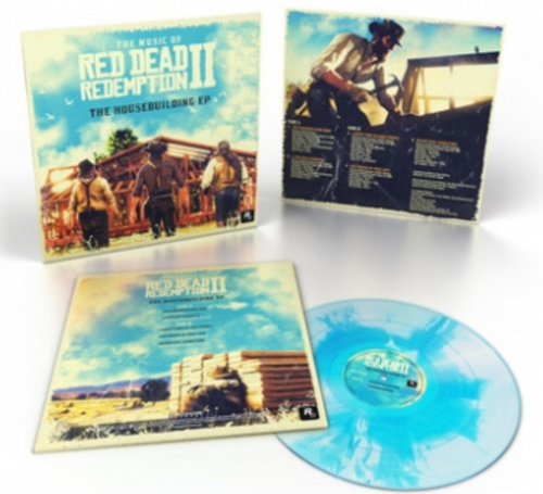 """The Music Of Red Dead Redemption II: The Housebuilding EP.   ( Vinyl, 10"""", 45 RPM, EP, Limited Edition, Blue Sky)"""