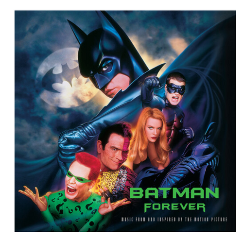 Batman Forever - Various –  (Original Music From The Motion Picture).   (2 x Vinyl, LP, Album, Limited Edition, Reissue, Blue & Silver)