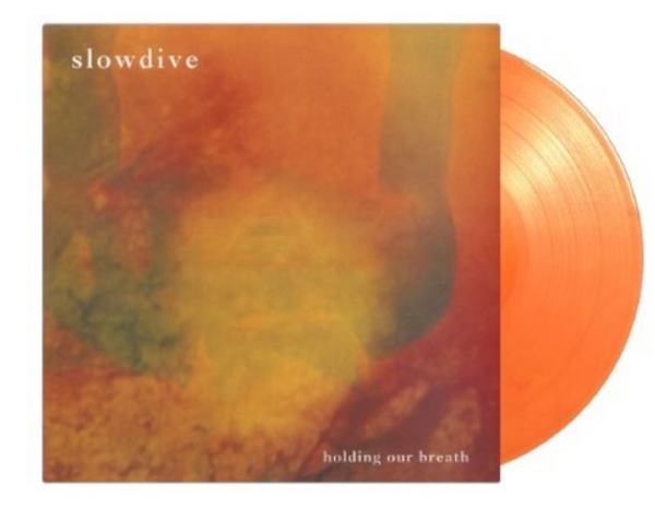 """Slowdive – Holding Our Breath.   ( Vinyl, 12"""", Numbered ,Flaming Orange)"""