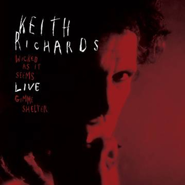 """RSD2021 Keith Richards - Wicked As It Seems/Gimme Shelter (Vinyl, 7"""" Single, Limited Edition, Red)"""