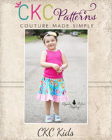 Cece's Circle Skirt Sizes 6/12m to 8 Kids and Dolls PDF Pattern