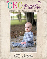 David's Knit Shirt and Footed Pants Set Sizes NB to 18/24m Babies PDF Pattern