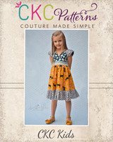 Gentry's Girly Ruffled Dress Sizes 6/12m to 15/16 Kids and Dolls PDF Pattern