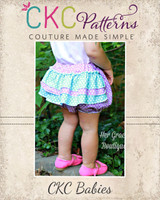 Emma's Ruffle Butt Bloomers NB to 6 Kids PDF Pattern