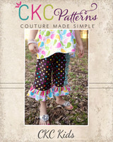 Gaby's Side Ruffle Capris and Pants Sizes 6/12m to 8 Kids PDF Pattern