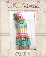 Nadeen's Knit Dress Sizes 6/12m to 8 Kids PDF Pattern