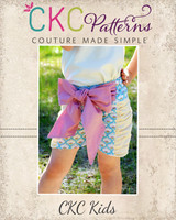 Rosalie's Ruched Shorts Sizes 6/12m to 8 Kids PDF Pattern
