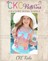 Brynnox's Bow-dacious Bikini Sizes NB to 8 Kids and Dolls PDF Pattern