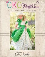 Evangeline's Elegant Ballgown Sizes 6/12m to 8 Kids PDF Pattern