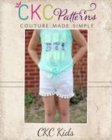 Unity's Lace Overlay Knit Shorts Sizes NB to 15/16 Kids PDF Pattern