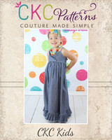 Ivy's Criss Cross Ruffle Top, Sundress, and Maxi Dress Sizes NB to 8 Kids and Dolls PDF Pattern