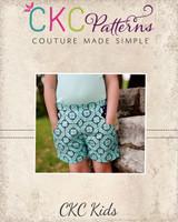 Greer's Scallop Pocket Shorts Sizes 6/12m to 8 Kids PDF Pattern