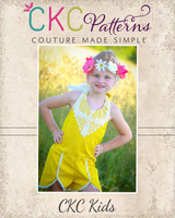 Leela's Little One Piece Sizes NB to 14 Kids PDF Pattern